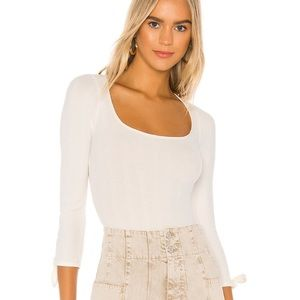 We the Free Move on bodysuit ivory XS NWT